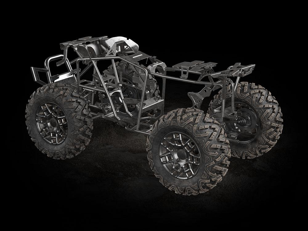 Chassis rendering of the Alterra 600